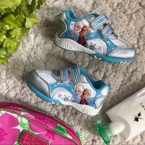 DISNEY: Elsa/ Anna Adorned FROZEN Velcro Sneakers